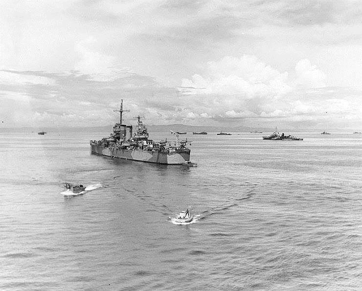 10.20.44 USS NASHVILLE Leyte Invasion Force - ULTRA