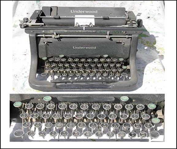 09.22.1893 RIP-5 Underwood Code Machine