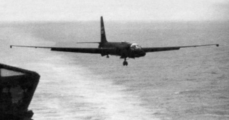 08.03.1963 first u-2 flight off an aircraft carrierc