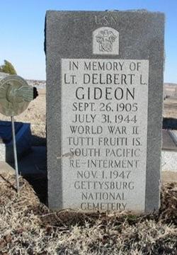 09.26.1905 LTjg Delbert L GideonB