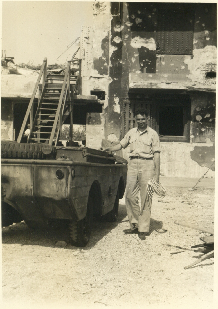Kwaj 0003 - C. B. Tompkins and island transportation 1944