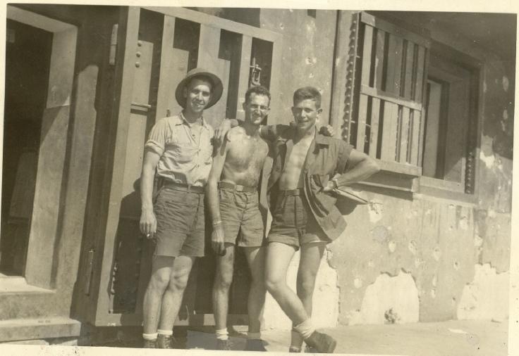 Kwaj 0007 - Sailors Schmidt, Crosby and Creed 1944